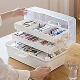 Cestbon Hausapotheke Box Groß Medikamentenbox Abschließbar Medizinschränke Medizinbox Medikamenten Box Aufbewahrungsbox Für Hause Und Urlaub,Weiß